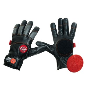 Blood Orange Leather Slide Glove